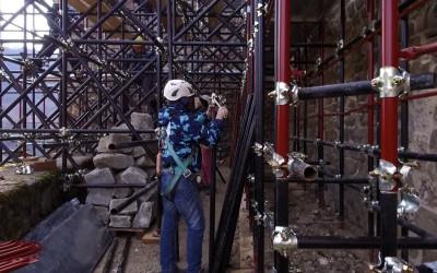 LA ROCCA AL SICURO: proseguono i lavori della messa in sicurezza della rocca di Arquata