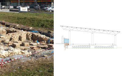 Piazza delle Terme Romane a Comunanza: intervento di riqualificazione e copertura dell'area archeologica